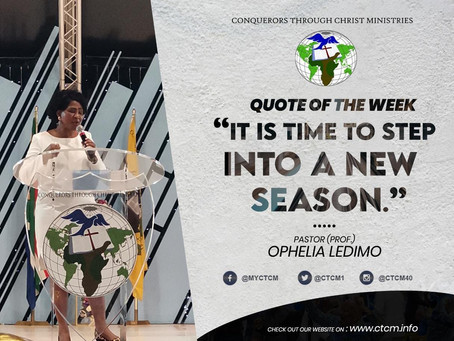 Ps. Prof. Ophilia Ledimo - It's a New Season, It's a New Dawn