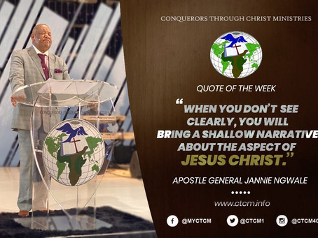 Apostle General Jannie Ngwale  - Shifting to new levels