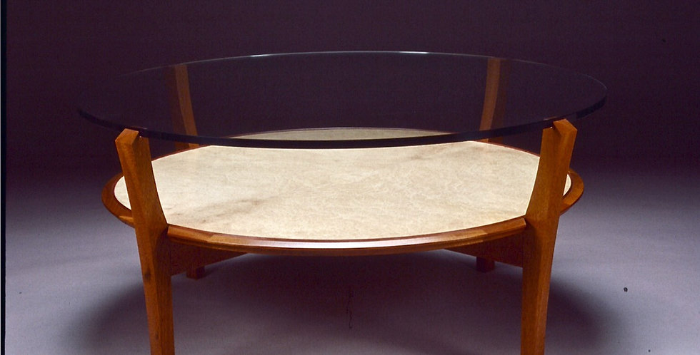 Compass Rose Circle Coffee Table