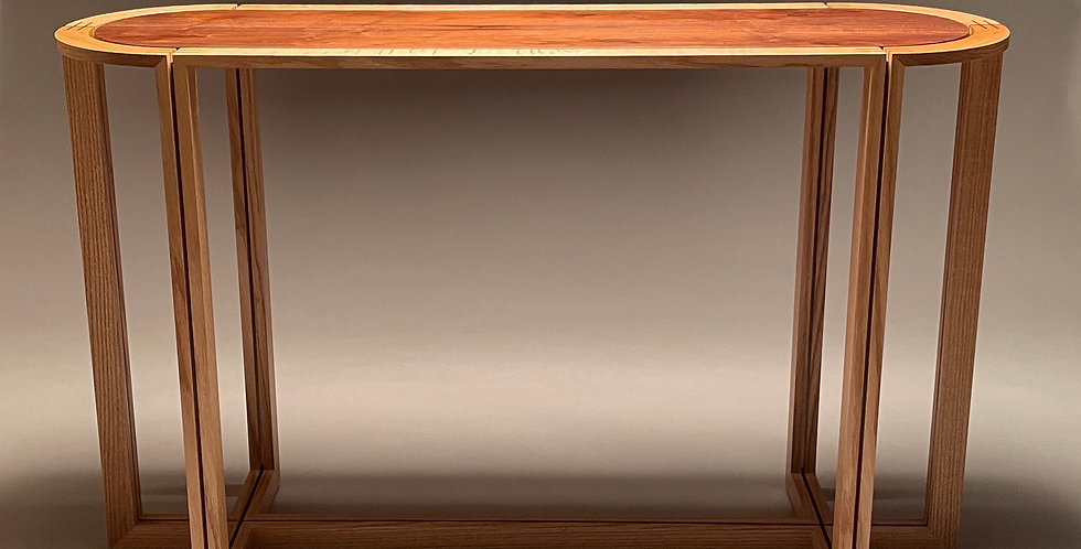 Rondo Floating Wood-Top Hall Table