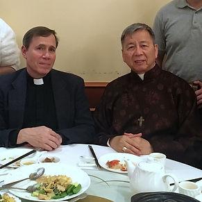Fr. Michael Agliardo with Archbishop Sav