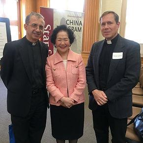 Anson Chan, Fr. Agliardo, Fr. Olivera.jp