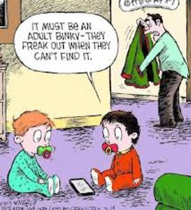 Cartoon with adult humor