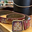 Thumbnail: Vintage Tooled Leather Belt and Buckle