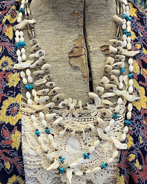 Vintage Shell and Turquoise Necklaces