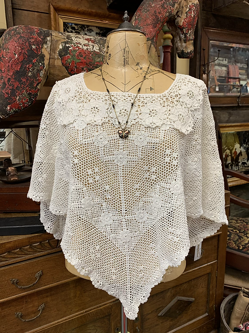 Redesigned Vintage Tablecloth Poncho