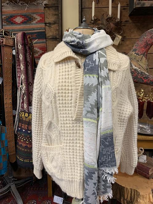 Vintage Ivory Fisherman Sweater