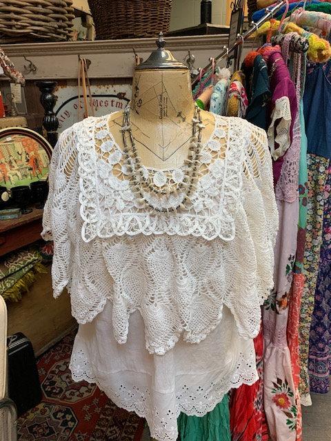 Redesigned White Crochet Topper