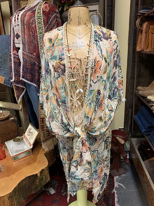 Floral Scarf Kimono