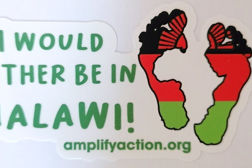 Rather be in Malawi Sticker