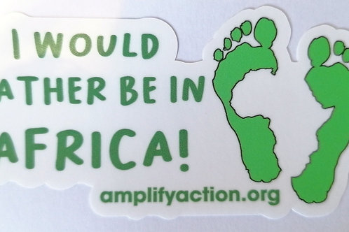Rather be in Africa Sticker