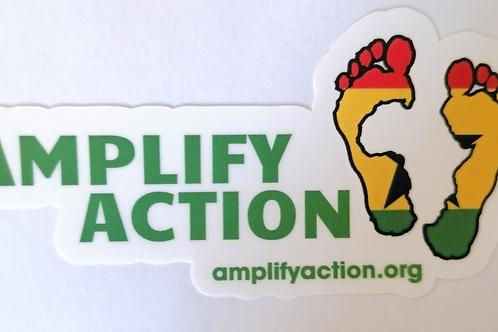 Amplify Action Ghana Logo Sticker