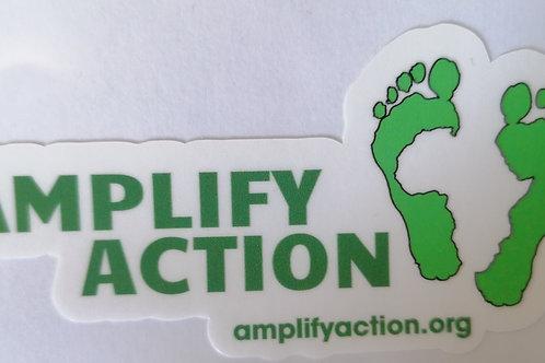 Amplify Action Logo Sticker