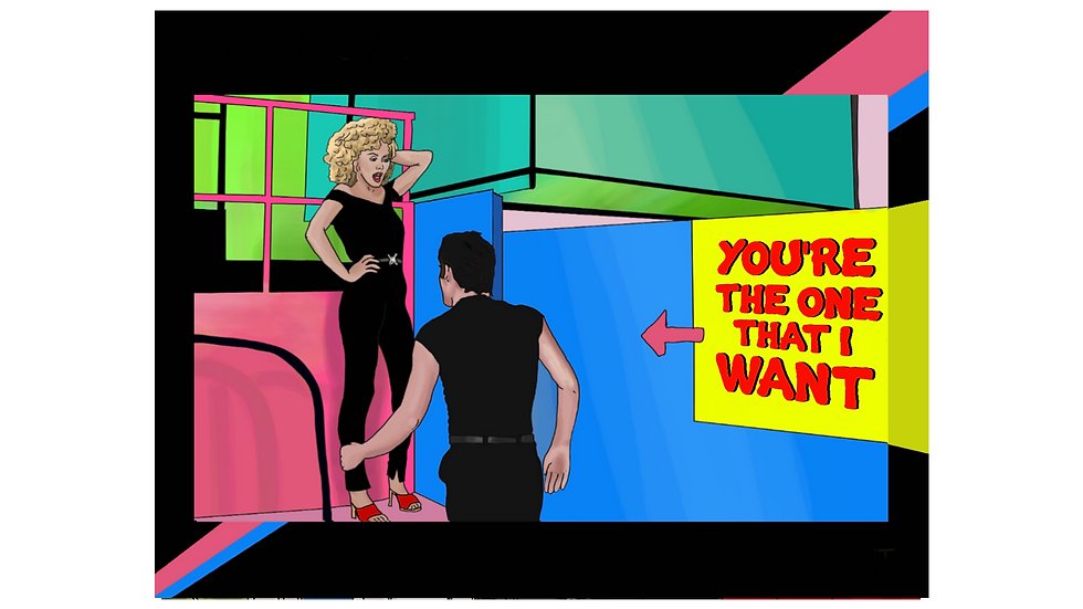 "The Grease ""You're the One that I Want"" Greeting Card"