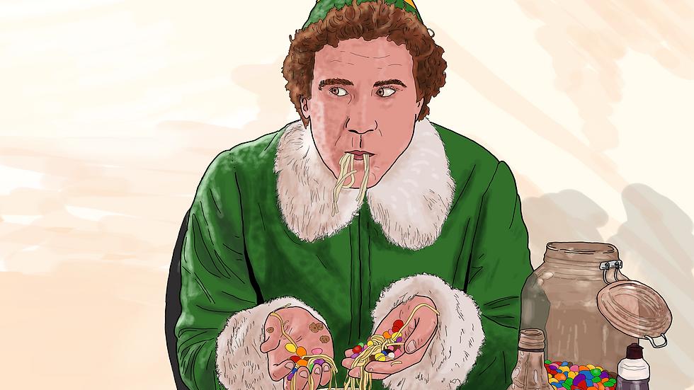 """The Elf  """"Son Of A Nutcracter"""" Christmas  Card"""