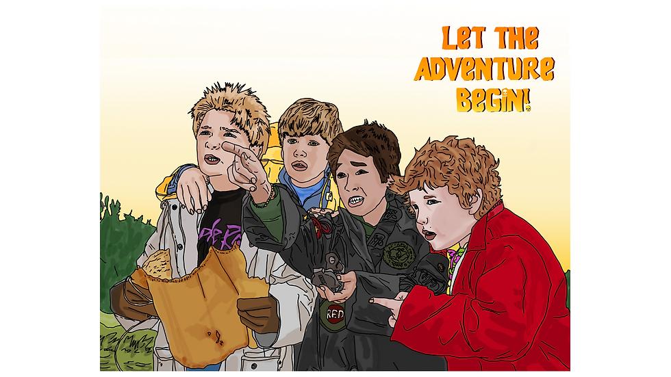 "The Goonies ""Let the adventure begin"" Greeting Card"