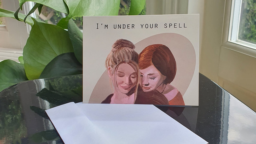 """The Buffy the Vampire Slayer """"I'm Under Your Spell"""" Greeting Card"""