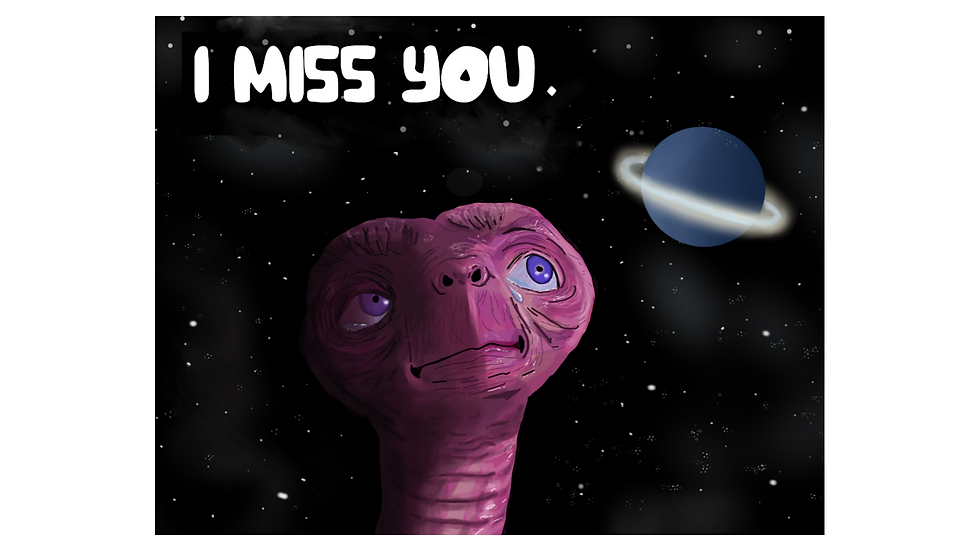 "The E.T. ""I Miss You."" Greeting Card"