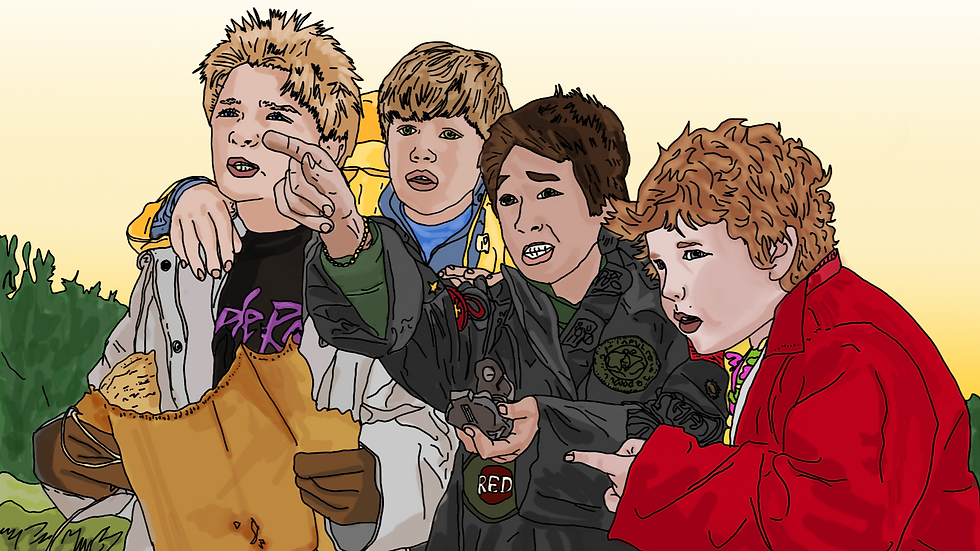 "The Goonies ""Goonies Never Say Die!"" print"