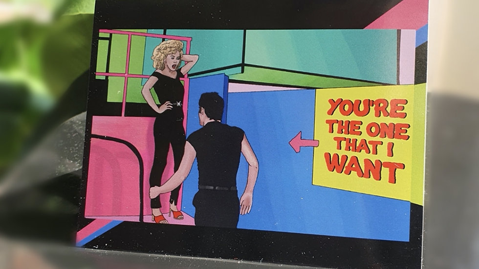 """The Grease """"You're the One that I Want"""" Greeting Card"""