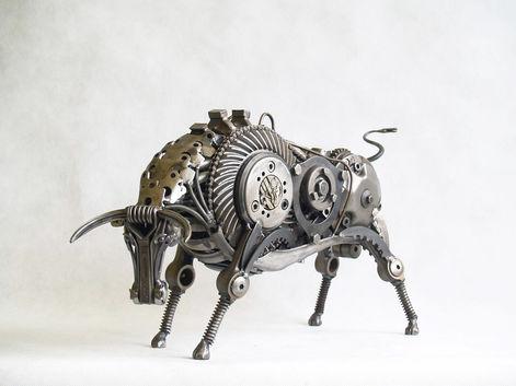 lamborghini sculpture bull
