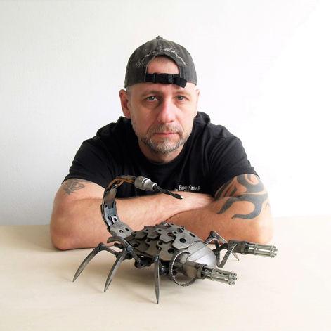 Scorpio sculpture