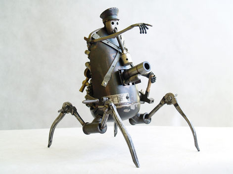 dictator steampunk sculpture