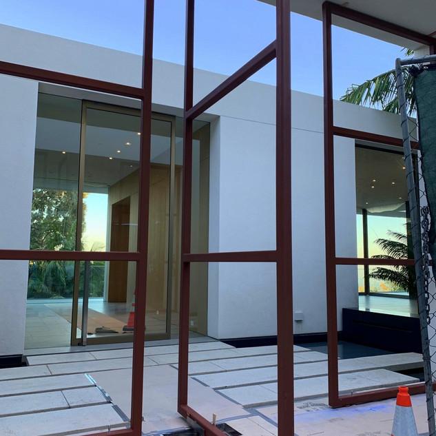 Before: Custom Welded Steel Panel & Gate Frames