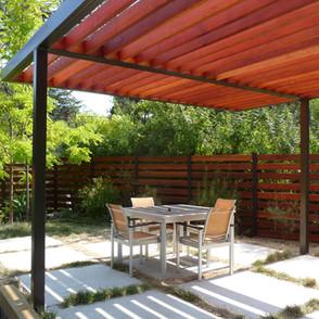 Redwood & Steel Pergola