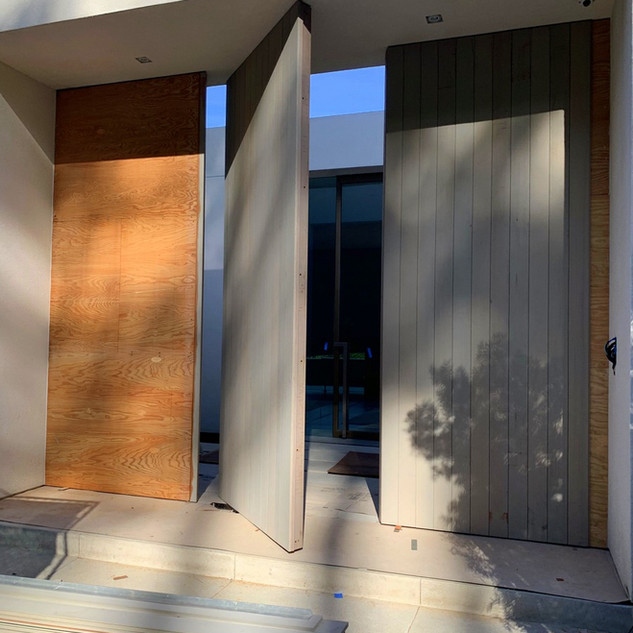 Before: Clear Cedar over Marine Plywood