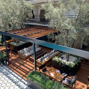 Oceana Hotel Steel & Teak Pergola-Deck