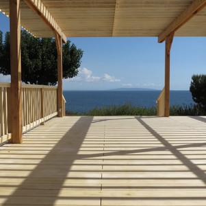 Pavillion: View over PCH/Santa Monica Bay