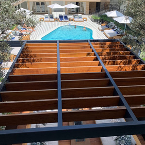 Finished: Oceana Hotel Steel & Teak Pergola-Deck