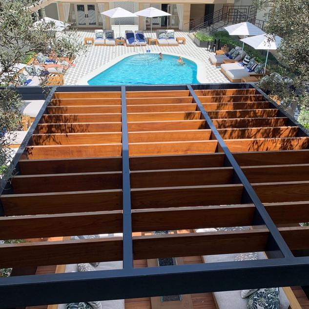Finished: Oceana Hotel Steel & Teak Pergola-Deck