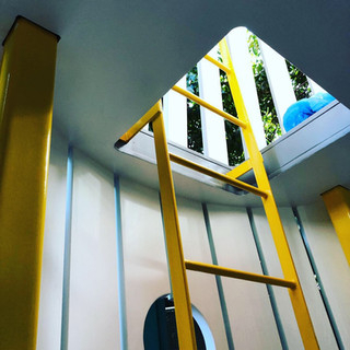 Details: View of first floor ladder