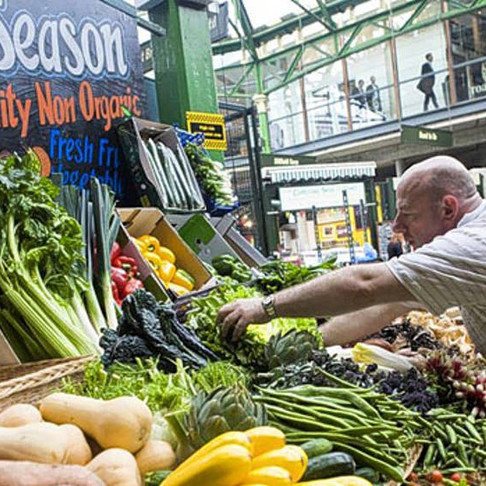 Harvest celebrations at Borough Market