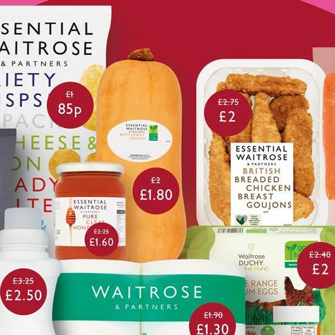 Waitrose cuts the cost of hundreds of products