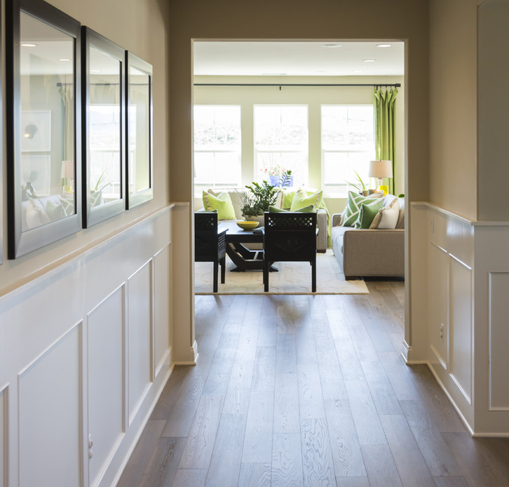 Beautiful Home Entry Way with Wood Floo