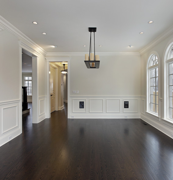 Dining room in new construction home wit