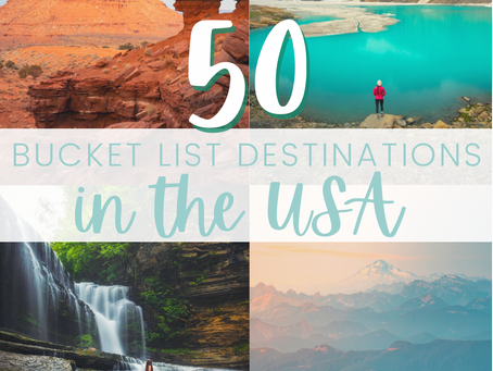 50 Bucket List Destinations in the USA (with map and photos)