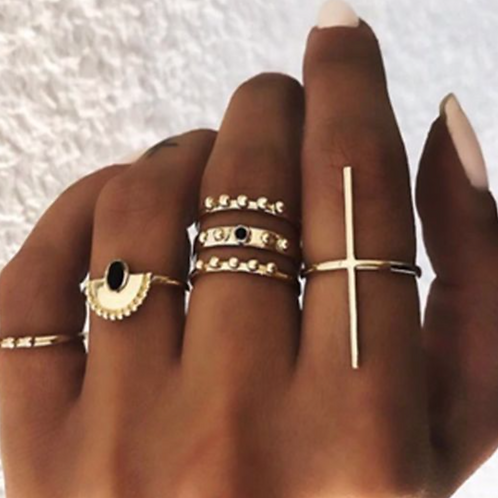 Aztec Ring Set