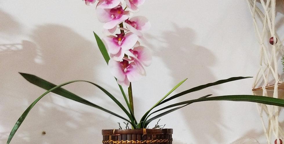 Arranjo de Orquídea Artificial feita a mão
