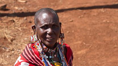 MASAI FRAU IN KENIA...