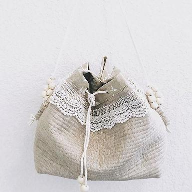 Collection sable sac a main  dentelle