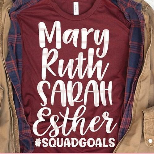 Mary Ruth Sarah Esther
