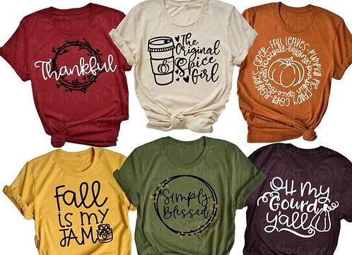 Fall Shirt choices 2