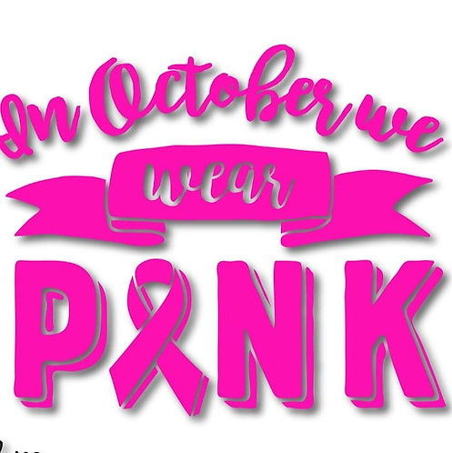 In October we wear Pink - Neon
