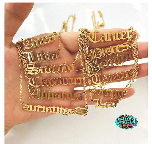 Gold Zodiac Necklace