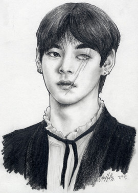 Taehyung with a Scar