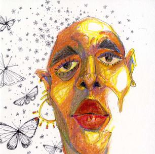 Color study w butterflies 1